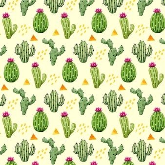 Patrón creativo con plantas de cactus