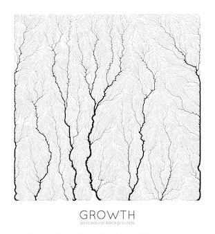 Patrón de crecimiento generativo de ramas