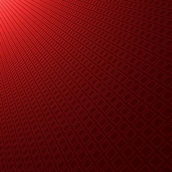 Patrón cuadrado abstracto fondo rojo