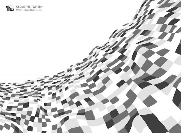 Patrón cuadrado de color gris abstracto