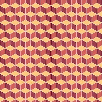 Patrón cuadrado naranja