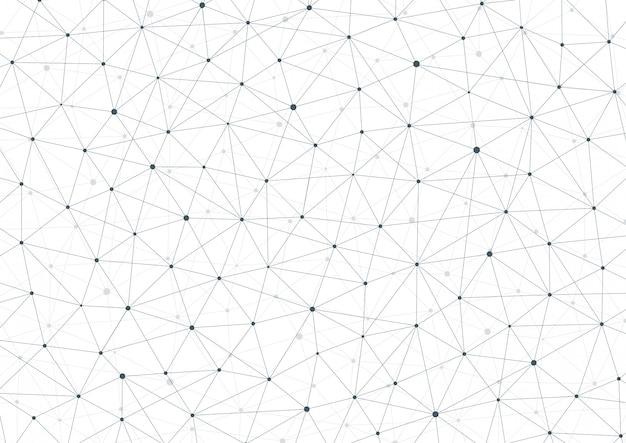 Patrón de cuadrícula con puntos y líneas de conexión