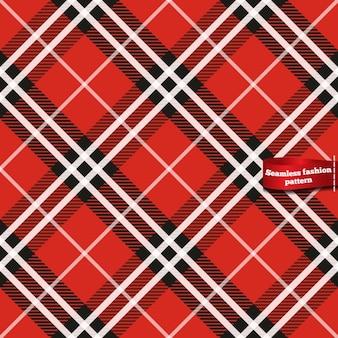 Patrón de cuadros escoceses en tonos rojos continuo