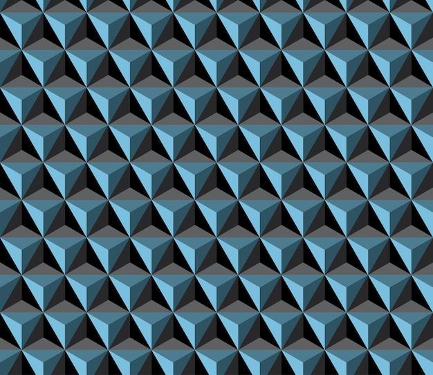 Patrón de cubo triángulo transparente.