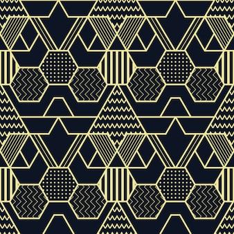 Patrón de cubos sin fisuras de formas geométricas abstractas