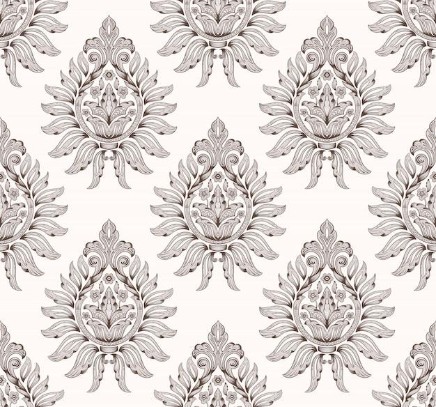 Patrón de damasco antiguo de lujo clásico