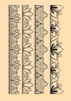 Patrón de dibujo de loto