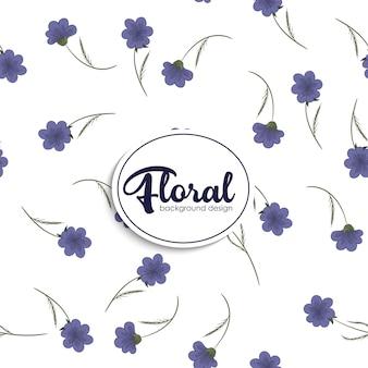 Patrón de ilustración de flores. vector floral