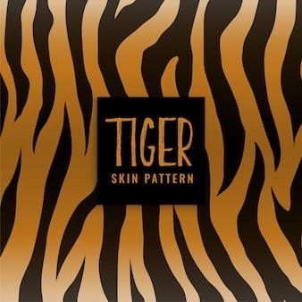Patrón de impresión de textura de piel de tigre