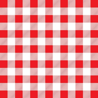 Patrón de moña rojo y blanco