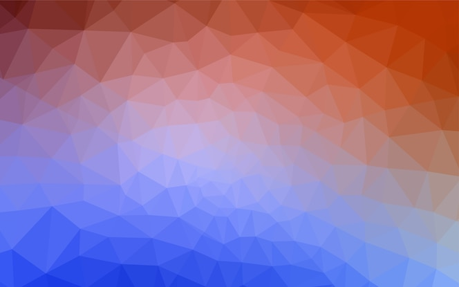 Patrón de mosaico abstracto luz azul vector rojo.