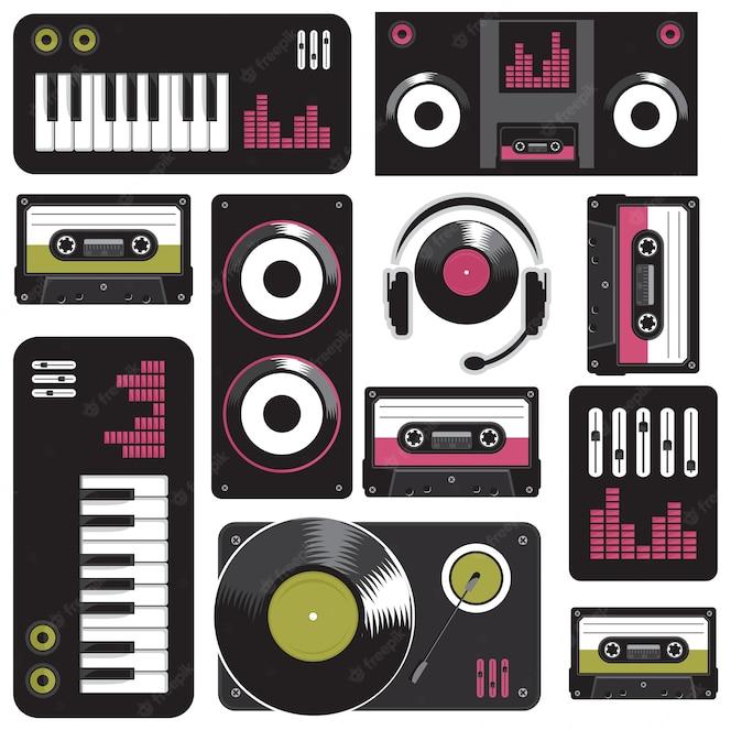 Patrón de música sin costuras