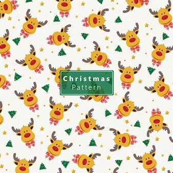 Patrón de navidad de renos
