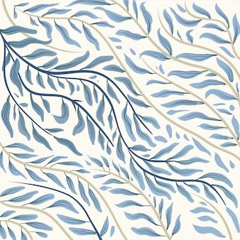 Patrón de porcelana azul