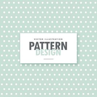 Patrón de puntos blancos sobre un fondo verde