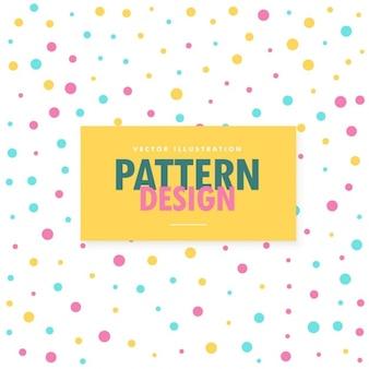Patrón de puntos de colores