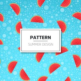 Patrón de vector inconsútil con sabor a fruta