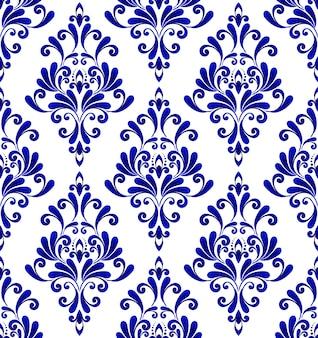 Patrón decorativo de damasco floral
