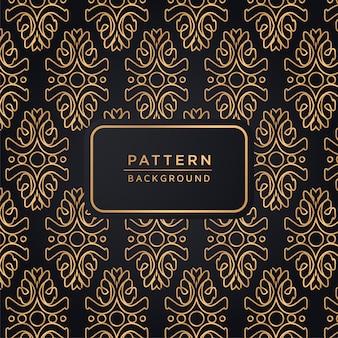 Patrón decorativo decorativo elegante.