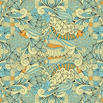 Patrón decorativo étnico en colores claros