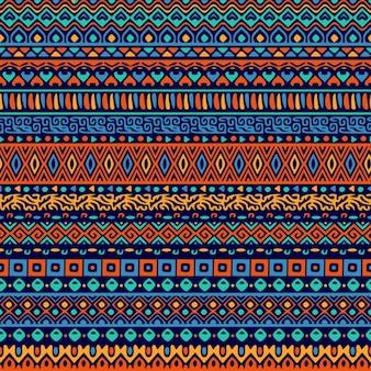 Patrón decorativo de formas ornamentales étnicas