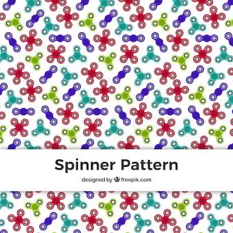 Patrón decorativo de spinners de colores