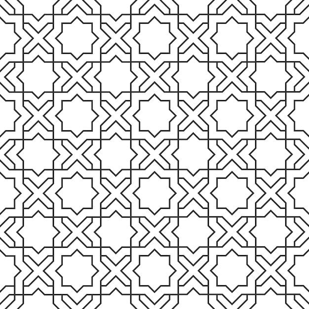 Patrón delicado en estilo islámico