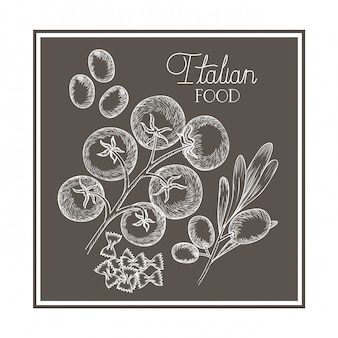 Patrón de deliciosa comida italiana