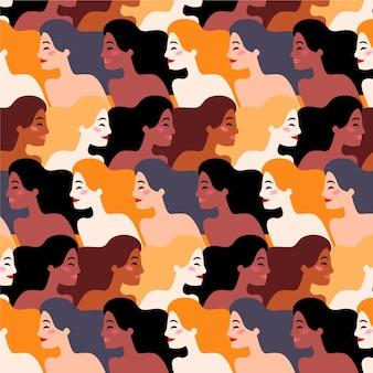 Patrón del día internacional de la mujer