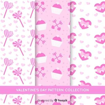 Patrón día de san valentín rosa