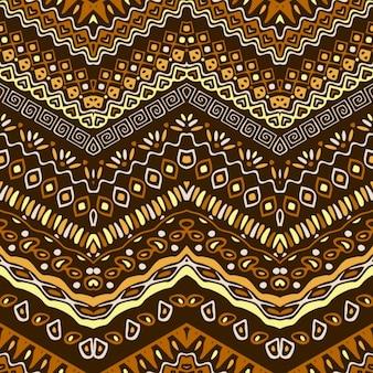 Patrón dibujado a mano con ornamentos étnicos