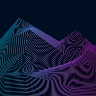 Patrón dinámico de onda de visualización de datos