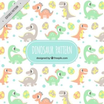Patrón de dinosaurios bonitos