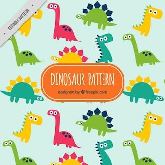 Patrón de dinosaurios divertido