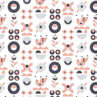 Patrón de diseño escandinavo de diseño plano