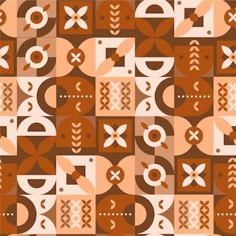Patrón de diseño escandinavo plano naranja
