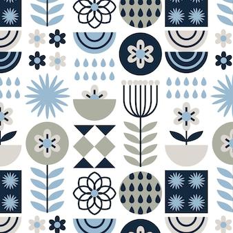 Patrón de diseño escandinavo plano