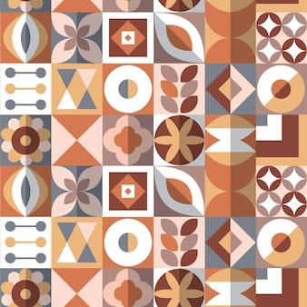 Patrón de diseño plano escandinavo