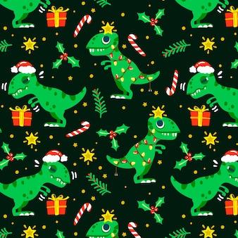 Patrón divertido de navidad