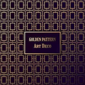 Patrón dorado art deco