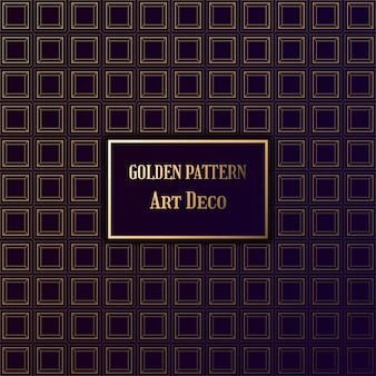Patrón dorado en estilo art deco. patrón de gatsby en fondo oscuro.