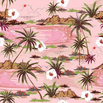 Patrón dulce isla inconsútil