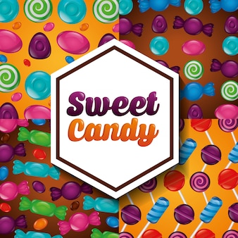Patrón de dulces dulces