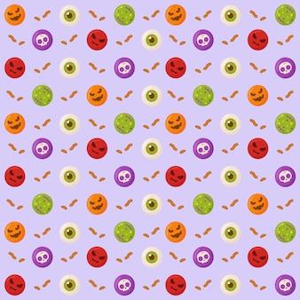 Patrón de dulces de halloween para papel de regalo