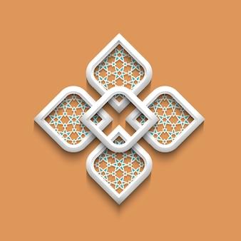 Patrón elegante 3d en estilo árabe
