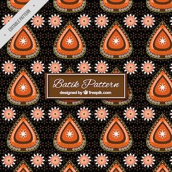 Patrón elegante floral batik