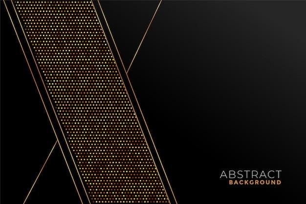Patrón elegante negro y dorado en formas geométricas