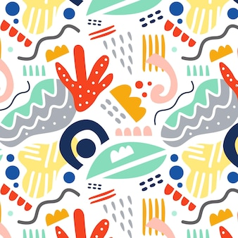 Patrón de elemento abstracto dibujado a mano