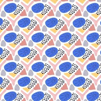 Patrón de elemento abstracto de diseño plano orgánico