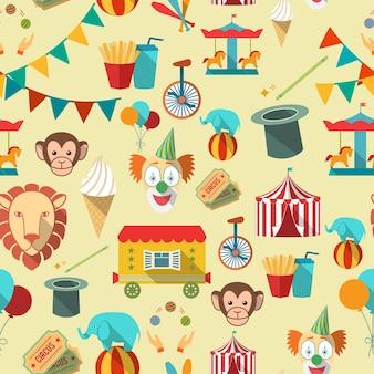 Patrón con elementos del circo